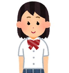 夏服の女子学生