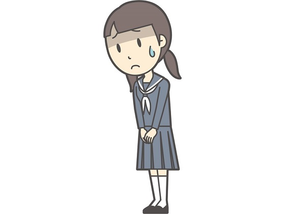 Female student scolded