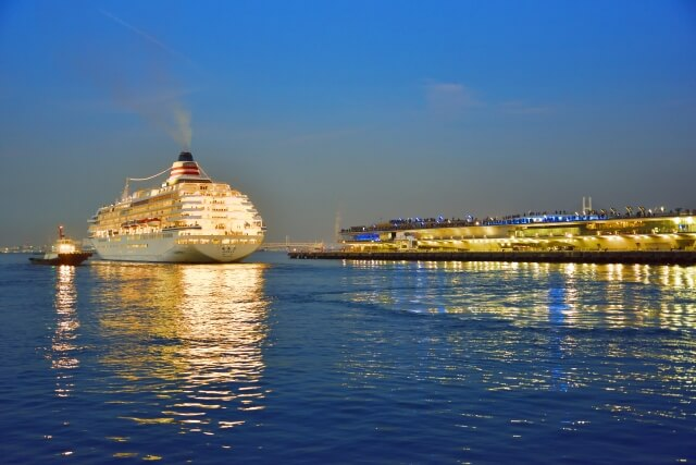 Departure of a luxury liner
