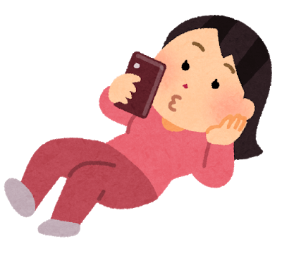 Use your smartphone while lying down